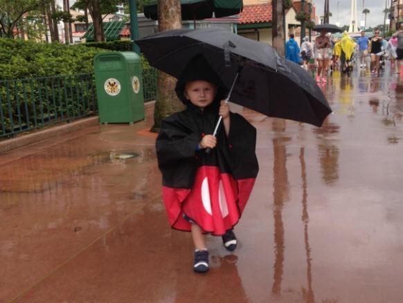 Charlie in the rain